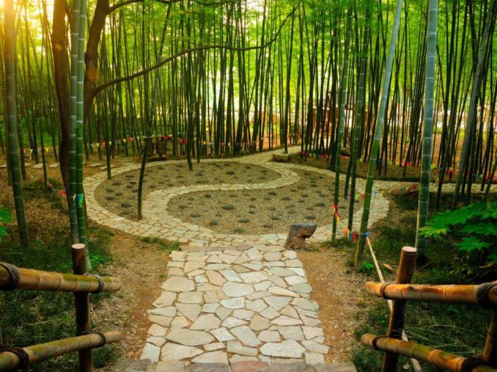 Ying Yang garden represents the consciousness evolution from vadiance
